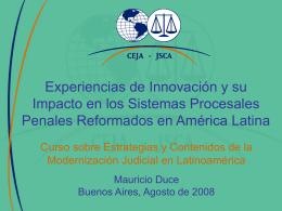 Experiencias de Innovación y su Impacto en los Sistemas