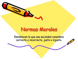 Normas Morales - Liceo Nº 16 Nocturno