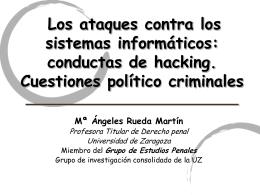Los ataques contra los sistemas informáticos - LEFIS