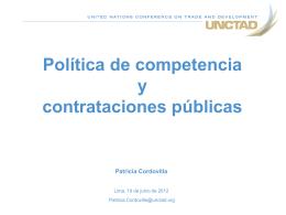 Política de competencia y contrataciones públicas PC