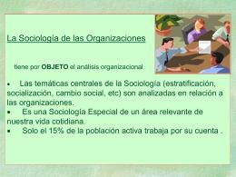 La Sociología de las Organizaciones