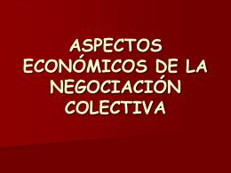 aspectos económicos de la negociación colectiva