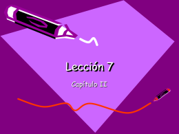 Cap2 Leccion 7