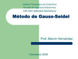 Método de Gauss-Seidel - Escuela de Ingeniería Electrónica