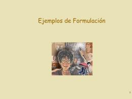 Ejemplos de formulación de Modelos