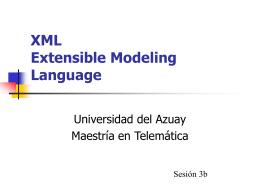 XML: PRESENTACIÓN - Universidad del Azuay