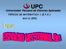 Espacio Rn - Universidad Peruana de Ciencias Aplicadas