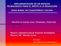implementación de un espacio tecnológico para el apoyo a la zona