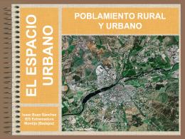 Poblamiento urbano y rural