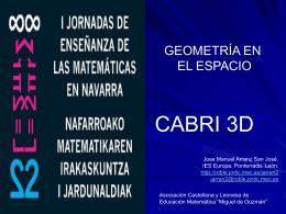 INICIACIÓN A LA GEOMETRÍA ESPACIAL CON CABRI 3D.