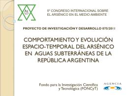 PID 075/2011: COMPORTAMIENTO Y EVOLUCIÓN ESPACIO