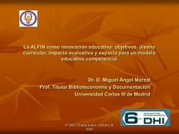 La ALFIN como innovación educativa: objetivos, diseño