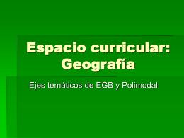 Espacio curricular: Geografía