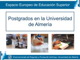 Diapositiva 1 - Universidad de Almería