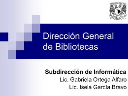 Dirección General de Bibliotecas