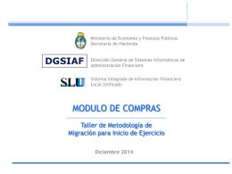 Presentacion Compras SLU - Administración Financiera