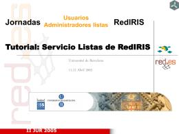 (I) Tutorial Servicio de Listas RedIRIS