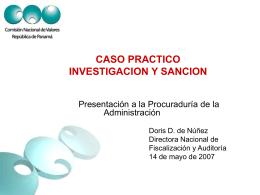 Caso Práctico Investigacion y sanción