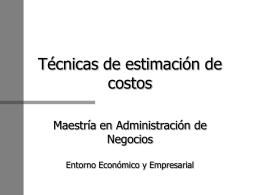 Estimación de Costos y Beneficios