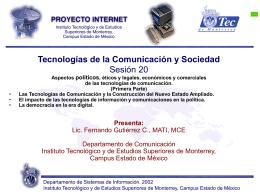 Sesión 20 - Fernando Gutiérrez :: Tecnología y Sociedad
