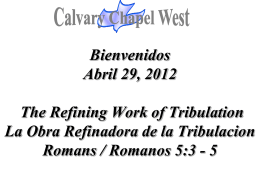 Romanos 5:3 - Calvary Chapel West