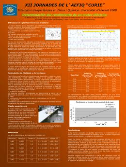 Determinación del rendimiento de un motor eléctrico - AEFIQ