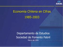 Resumen de la Economía Chilena al 2003