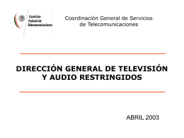 Diagnóstico TV por Cable 2003