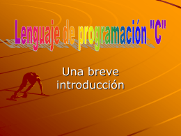 Introduccion a c