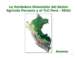 La Verdadera Dimension del Sector Agricola Peruano y el