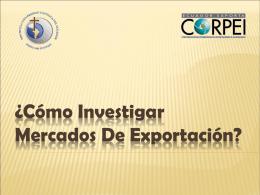 Como investigar mercados de exportacion
