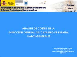 Análisis de costes en la Dirección General del Catastro de España