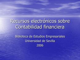 Recursos electrónicos sobre Contabilidad financiera