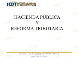 """Presentación """"Seminario de Reforma Tributaria (Hacienda Pública)"""""""