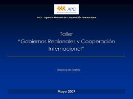 Cooperación Internacional con el Perú