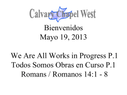 Romanos 14:1-4 - Calvary Chapel West