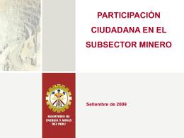 participación ciudadana en el subsector minero
