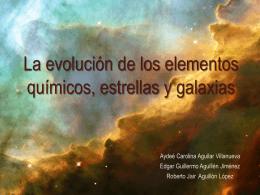La evolución de los elementos químicos, estrellas y
