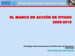 ONU/EIRD Marco de Acción de Hyogo