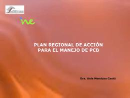 Plan Regional de Acción para el Manejo de PCBs.