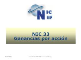 NIC 33 Ganancias por acción