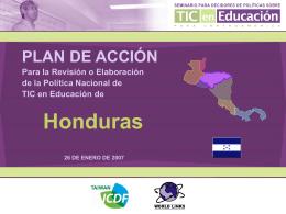 Plan de Acción - Honduras - Seminario de Políticas en TIC y