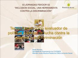 Roser Romero, Secretaria de Organización de COCEMFE