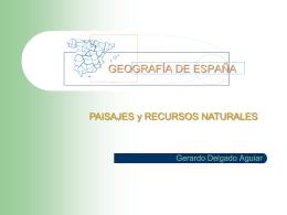 Paisajes y recursos naturales