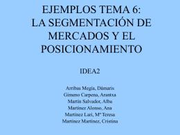 la segmentación de mercados y el posicionamiento