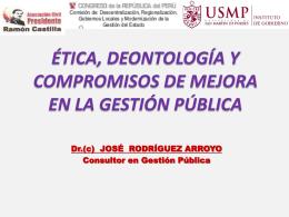 Etica y Deontología José Rodríguez