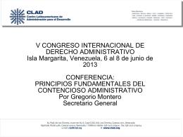 Conferencia Isla Margarita Gregorio Montero