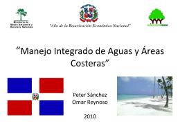 """""""Recursos hídricos y áreas costeras de la Republica Dominicana"""""""