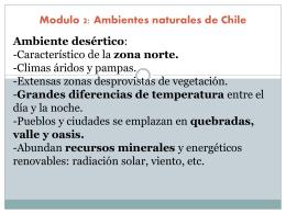Módulo 2: Ambientes Naturales de Chile.
