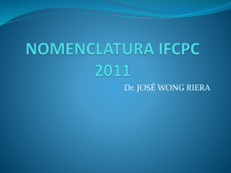 nomenclatura ifcpc 2011 - Sociedad de Patología del Tracto Genital